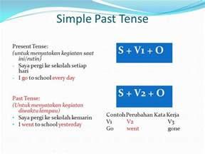 contoh kalimat simple  tense  artinya