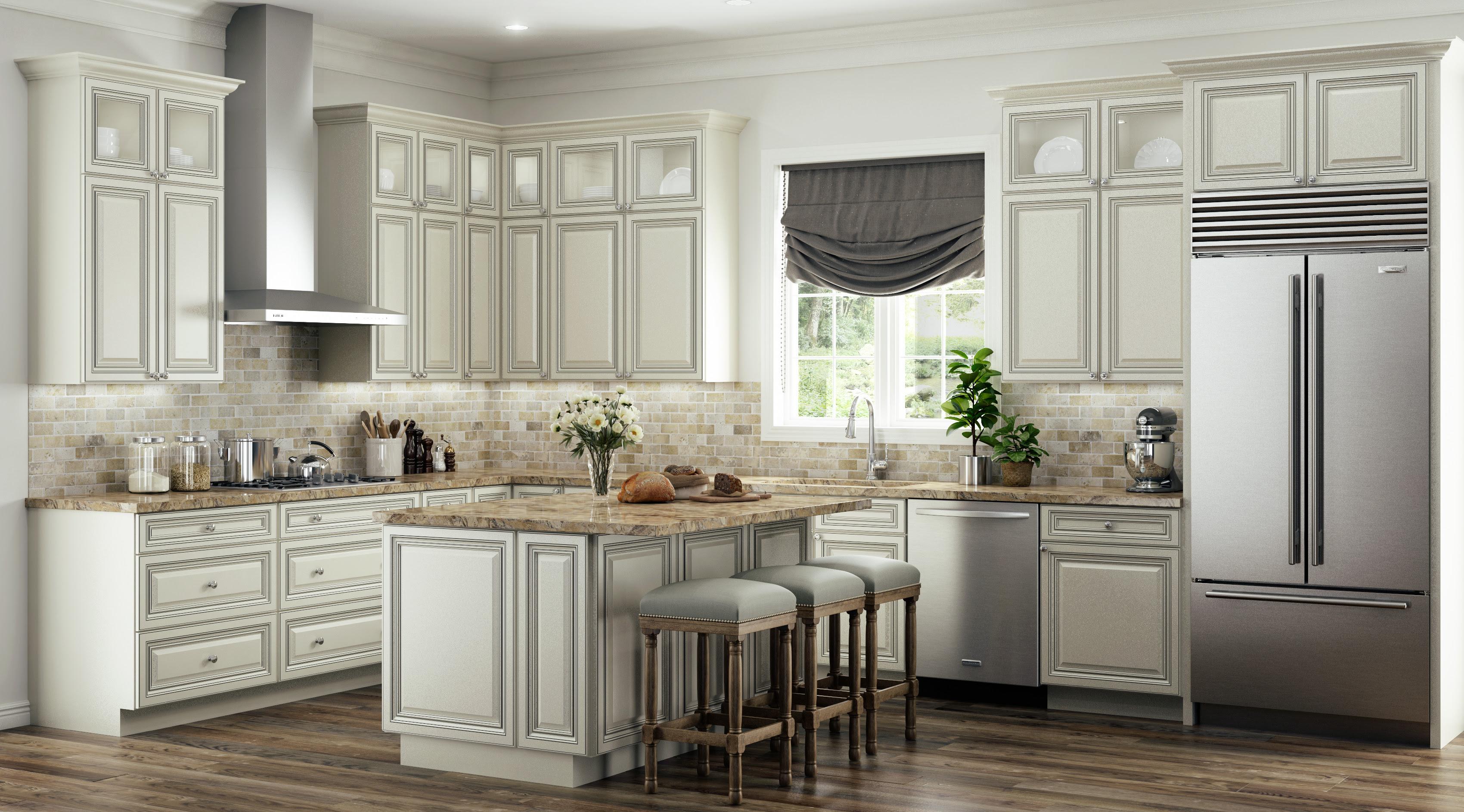 Antique White Glaze - Lesso Kitchen and Bath