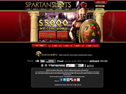 Spartan Slots  - Claim your FREE £30 from Spartan Slots ! | Slotfruit