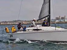 J/111 sailing King Harbor Race Week off Los Angeles, CA