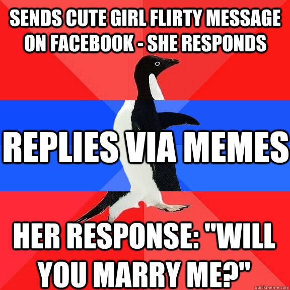 Sends Cute Girl Flirty Message On Facebook She Responds Replies