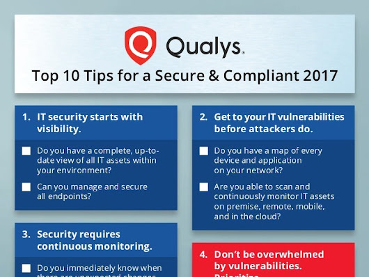 Qualys Top 10 Tips for a Secure & Compliant 2017
