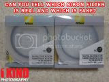 How to Tell a Difference Between a Genuine and Counterfeit Nikon Lens Filter