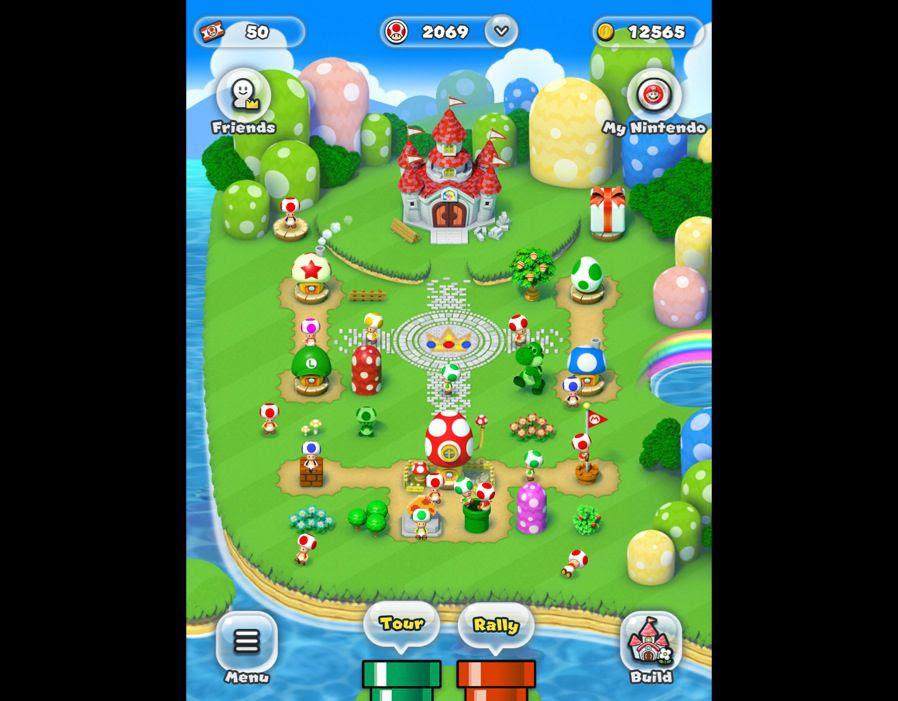 chơi game super mario run cho điện thoại android