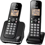 Panasonic KX-TGC352B Expandable Cordless Phone with 2 Handset - Black