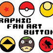 Graphic Fan Art Buttons!
