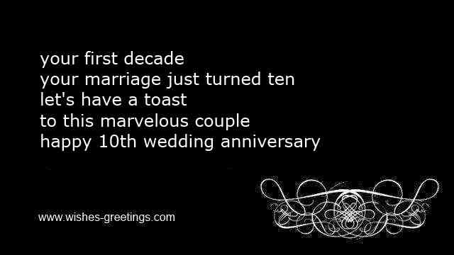 10th Wedding Anniversary Wishes And Tenth Marriage Congratulations