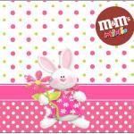 Rótulo Mini M&M Páscoa para Meninas: