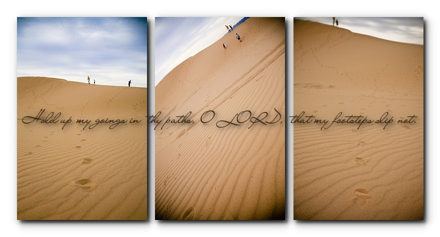 footsteps in the sand dunes
