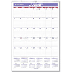At-A-Glance Monthly Wall Calendar with Ruled Daily Blocks 15 1/2 x 22 3/4 White 2020 PM328