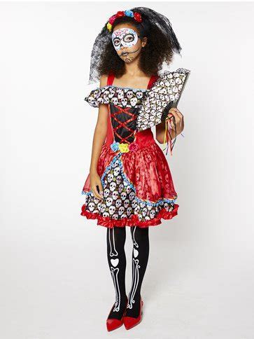 Sugar Skull Senorita   Child and Teen Costume   Party Delights