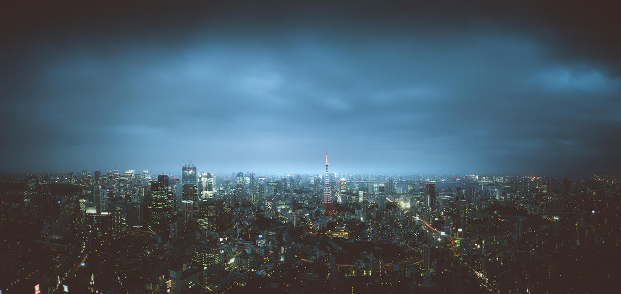 Tokyo Skyline by rawimage