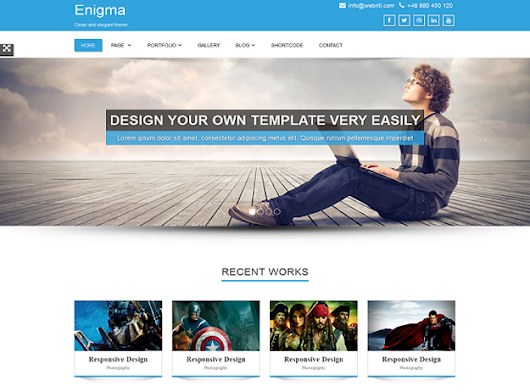 25 Free WordPress Themes for 2015 - Free Resources for Web Designers by Hemn Chawroka