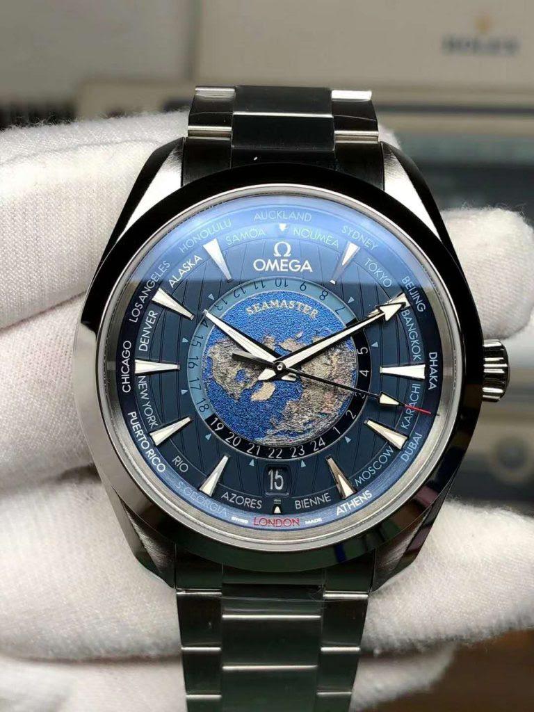 Replica Omega Seamaster Aqua Terra Worldtimer