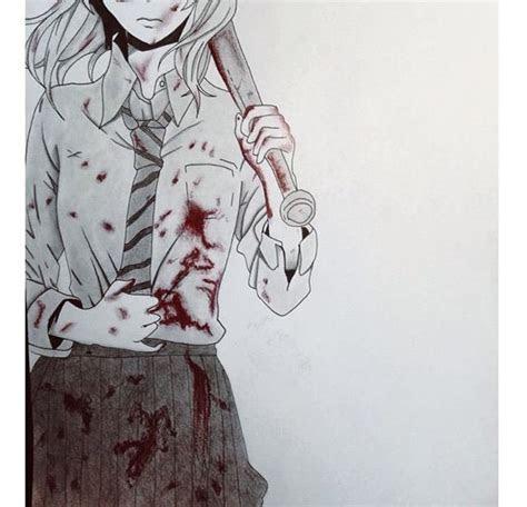 drawing time lapse killer anime girl anime amino