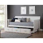ACME Bailee Daybed Trundle, White, Twin