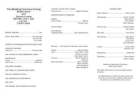 8  Word Wedding Program Templates Free Download   Free