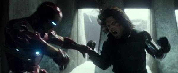 Bucky takes on Iron Man in CAPTAIN AMERICA: CIVIL WAR.