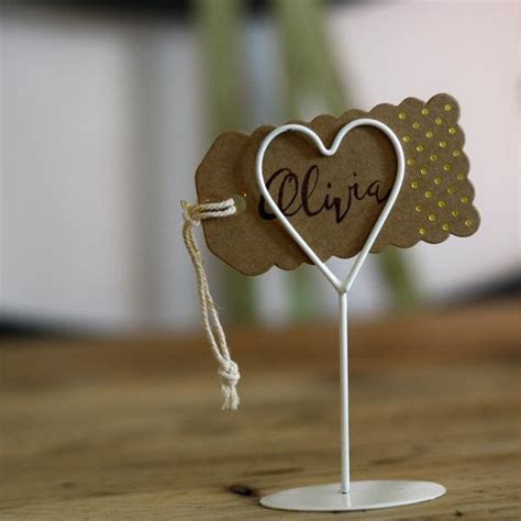 White Heart Place Card Holders   Set Of 8 ? The Wedding of