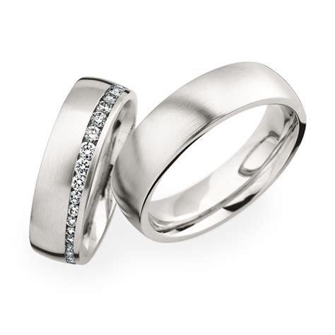 platinum wedding bands with round brilliant cut diamonds