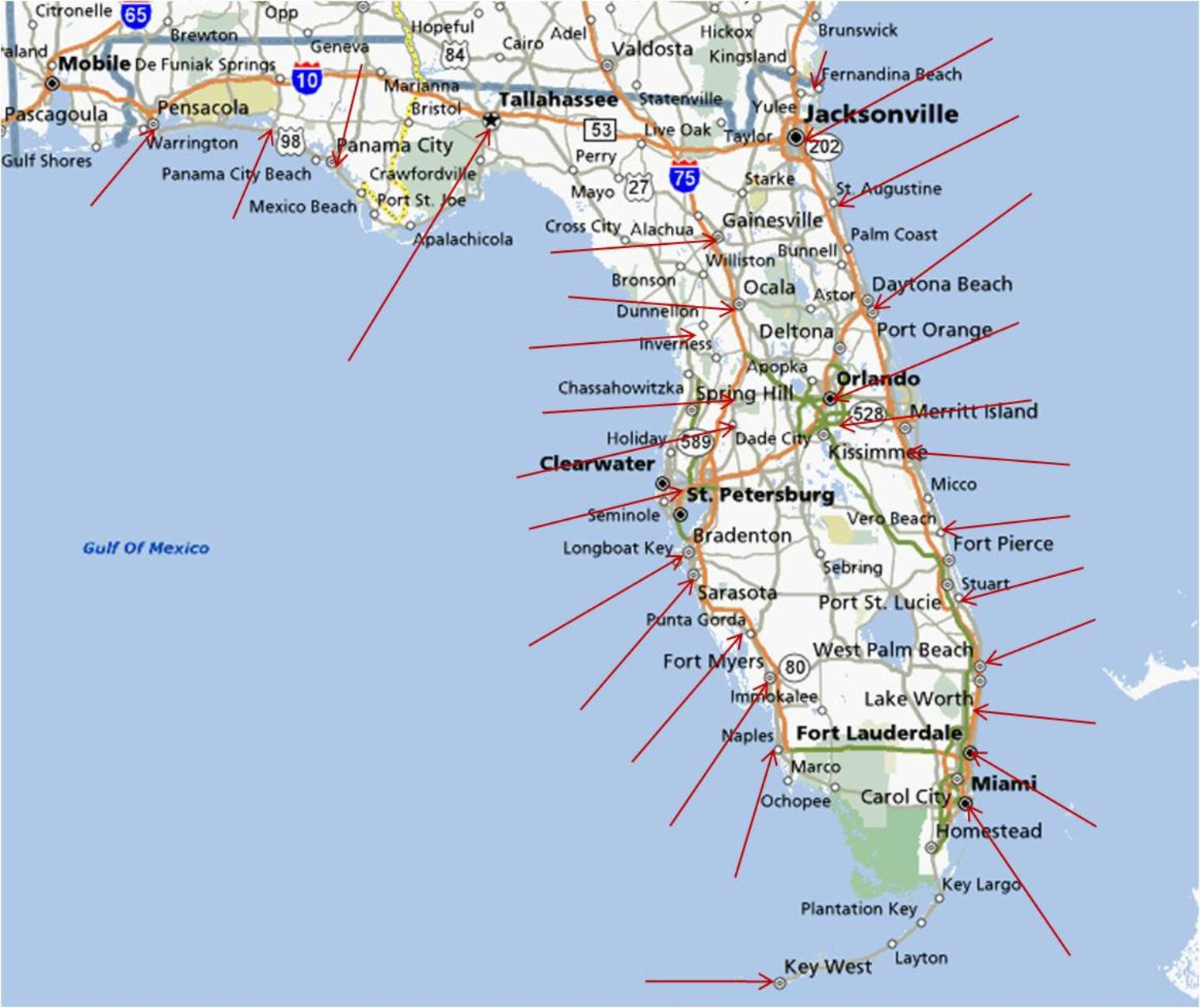 Gulf Coast Map Of Florida Beaches.25 Awesome Map Of Florida West Coast Beaches