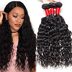 Vipbeauty Brazilian Virgin Hair 3 Bundles Of Water Wave 10a Grade Unprocessed Human Hair Extensions Natural Color (10 12 14)