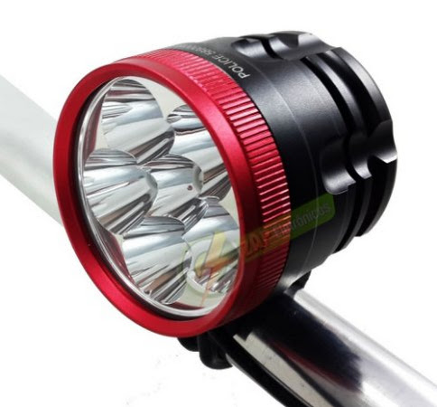Farol Para Bike Monster Six 1.650.000 Lumens 588.000W 6 Leds T6 8 Baterias Lanterna Bicicleta Mais Forte Do Mercado