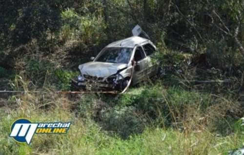 A caminho de velório, casal sofre acidente na BR-163