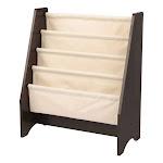 KidKraft 14229 Sling Canvas Kids Space Saving Wooden Bookshelf, Espresso/Natural by VM Express