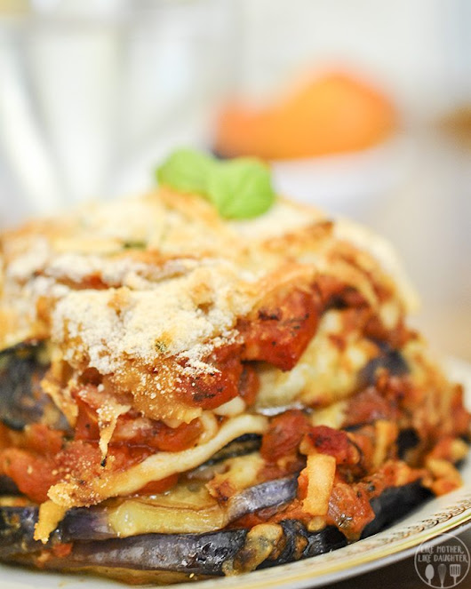 Eggplant Parmigiana - Like Mother, Like Daughter