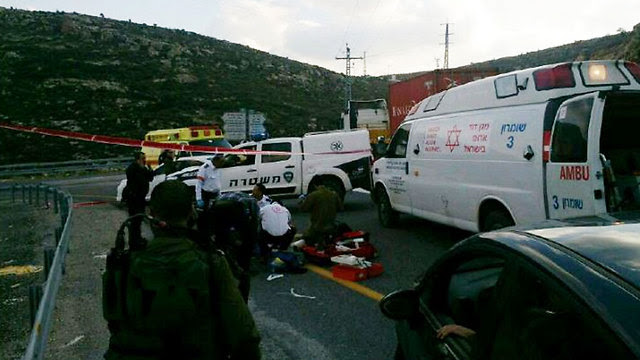 Scene of run-over incident (Photo: Israeli Police)