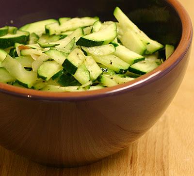 Zucchini and almond saute