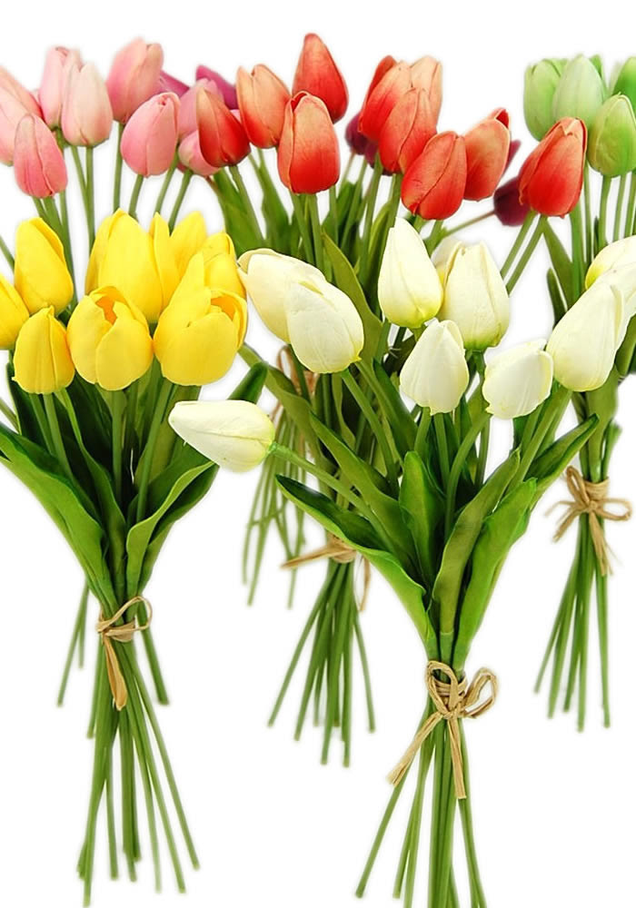 Real Touch Artificial Mini Tulips  Realistic Fake Tulip