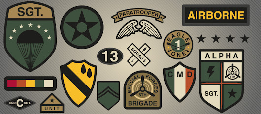 United States Army Badges and Patches Worn with Pride