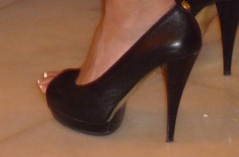 Young feet high heels