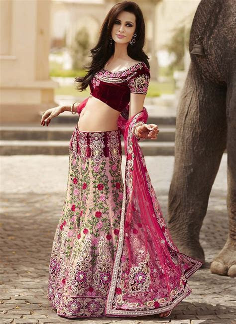 Indian Bridal Lehnga choli Collection 2013 2014   Designer
