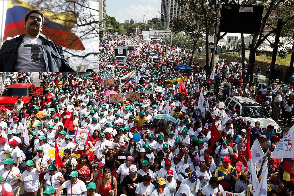 la gran marcha de las mujeres socialistas que llegaron a miraflores.