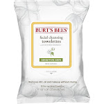 Burt's Bees Facial Cleansing Towelettes, Sensitive - 30 count