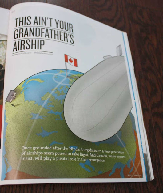 Airship Infographics for Depict Magazine