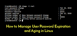 How to Manager User Password Expiration and Aging in Linux