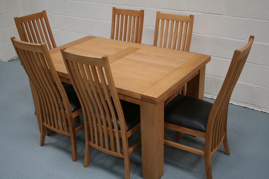 Riga Oak Dining Sets Cheap Dining Room Furniture