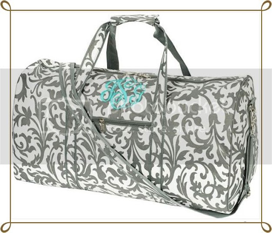 Win a Personalized Gray Floral Duffel Bag (open to US) - Diva Fabulosa