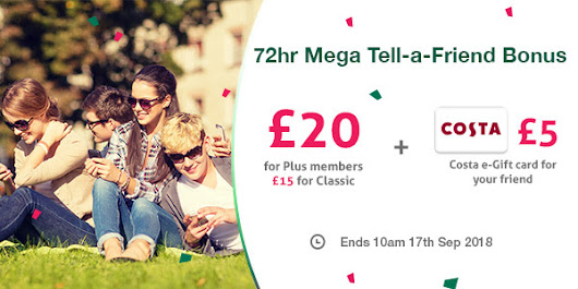 TopCashback 72 Hour Tell-a-Friend Bonus!