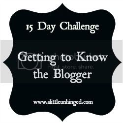 15 Day blogger Challenge