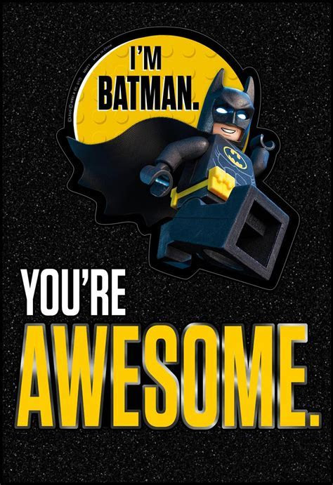 THE LEGO® BATMAN MOVIE? Awesome Birthday Card With Sticker