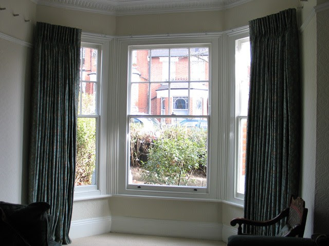 Bay Window Double Curtain Rods A Creative Mom