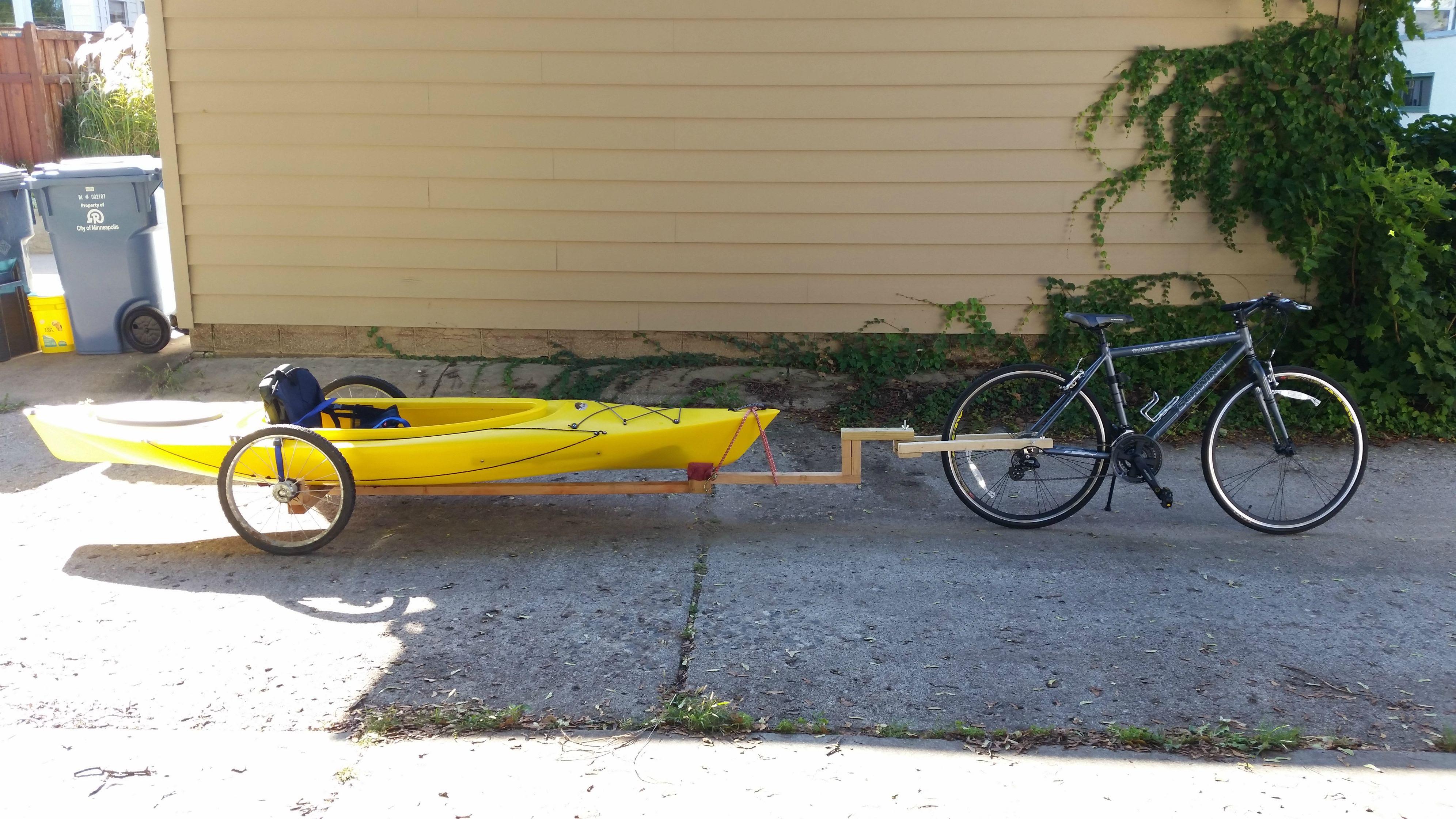 DIY Kayak Bike Trailer