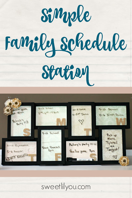 Simple Family Schedule Station - sweet lil you