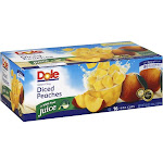 Dole Yellow Cling Peaches Diced In 100% Fruit Juice - 16 pack, 4 oz cups