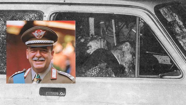 O στρατηγός Κάρλο Αλμπέρτο Νταλά Κιέζα - Τον γάζωσαν μέσα στο αυτοκίνητό του